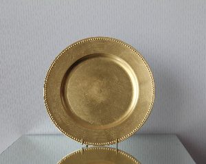 All Event Africa Gold Beaded Melamine Underplates