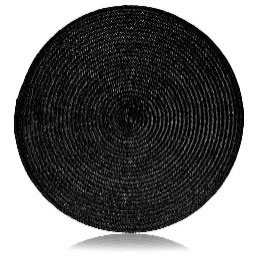 All Event Africa Round Black Woven Place Mat