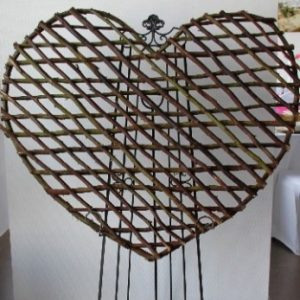 All Event Africa Wooden Heart for Easel
