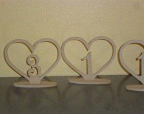 All Event Africa Wooden heart table numbers